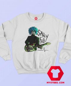 Scare Sally Face With Green Guitar Unisex Sweatshirt