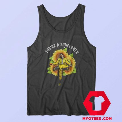 Sunflower Post Malone American Rapper Tank Top