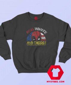 Tacos Deadpool American Flag Funny Sweatshirt