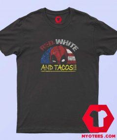 Tacos Deadpool American Flag Funny T shirt