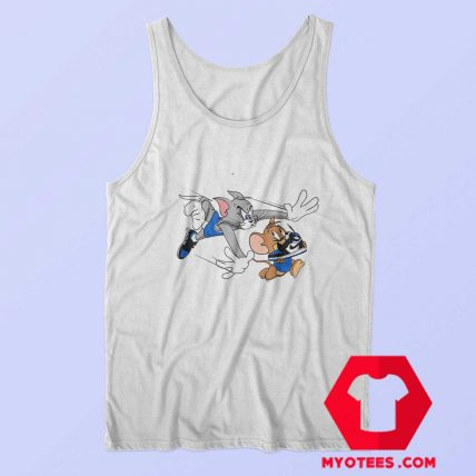 Tom Jerry Running Take Shoes Unisex Tank Top