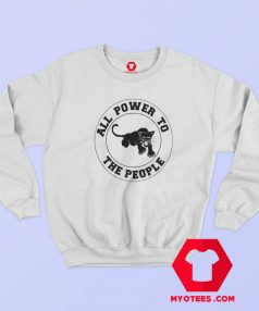 Vintage Black Panther All Power To The People Sweatshirt