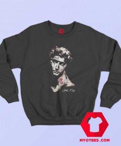 Vintage Lil Peep Goth Boy Statue Unisex Sweatshirt