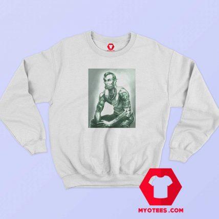 Abraham Lincoln Tattoo Muscular Art Sweatshirt