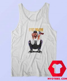 Cheap Vintage Post Malone Flag Texas Tank Top