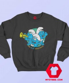 Cute The Smurfs The Blue Brothers Sweatshirt