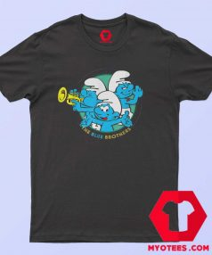 Cute The Smurfs The Blue Brothers T Shirt