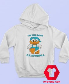 Donald Duck Im The Boss California Unisex Hoodie