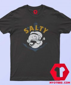 Expression Popeye Salty Cartoon Vintage T Shirt