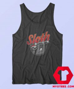 Funny Cute Sloth Running Team Tank Top