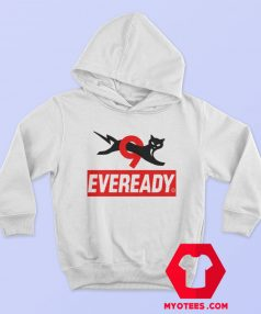Funny Eveready Battery Cat Graphic Hoodie