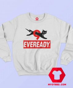 Funny Eveready Battery Cat Graphic Sweatshirt