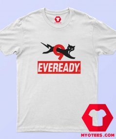 Funny Eveready Battery Cat Graphic T Shirt