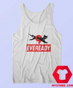 Funny Eveready Battery Cat Graphic Tank Top