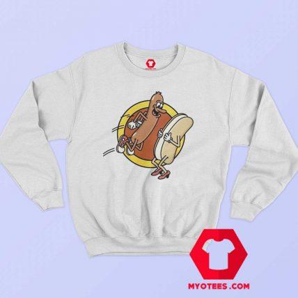Funny Hot Dog Food Lovers Graphic Sweatshirt