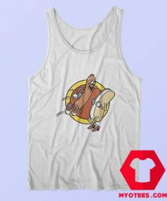 Funny Hot Dog Food Lovers Graphic Tank Top