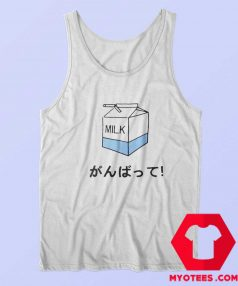 Funny Japanese Milk Box Unisex Tank Top