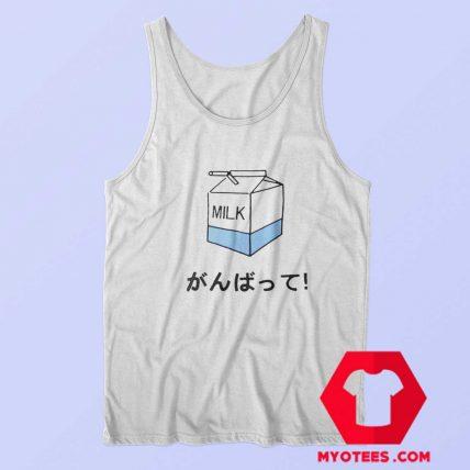 Funny Japanese Milk Box Unisex Tank Top