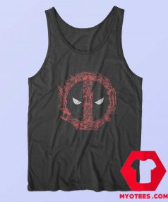 Funny Marvel Deadpool Face Icons Tank Top