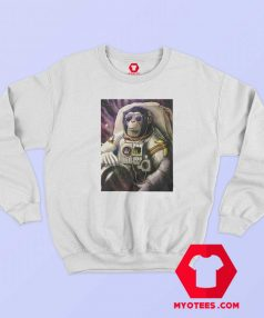 Funny Monkey Chimp In Space Unisex Sweatshirt