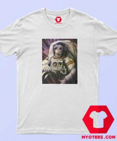 Funny Monkey Chimp In Space Unisex T Shirt