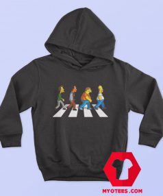 Funny The Simpson Abbey Road Hoodie