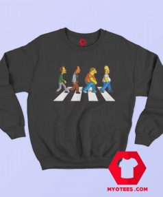 Funny The Simpson Abbey Road Sweatshirt