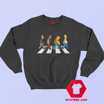 Funny The Simpson Abbey Road Sweatshirt