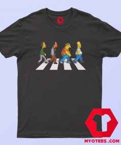 Funny The Simpson Abbey Road T Shirt
