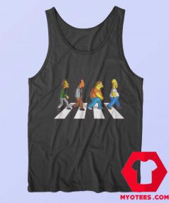 Funny The Simpson Abbey Road Tank Top