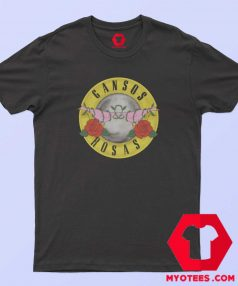 Gansos Rosas Parody Gun N Roses T Shirt