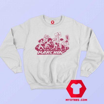 Marching Graphic Girl Power Unisex Sweatshirt
