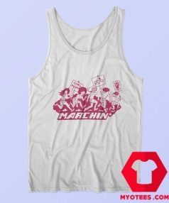 Marching Graphic Girl Power Unisex Tank Top