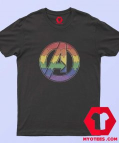 Marvel Avengers Dripping Rainbow T Shirt