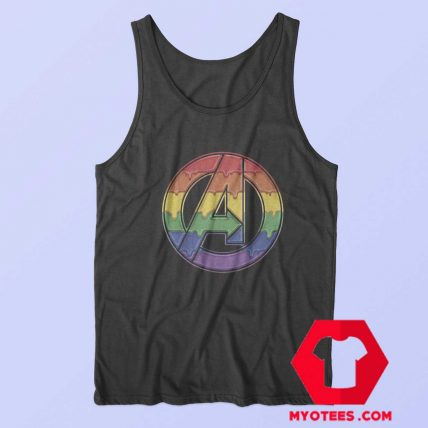 Marvel Avengers Dripping Rainbow Tank Top