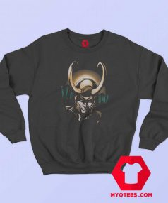 Marvel Justice Loki Smirk Close Up Sweatshirt