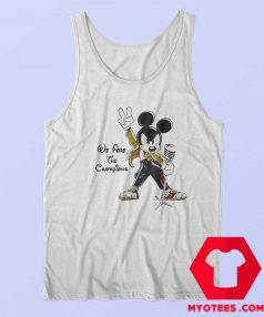 Mickey Mouse Queen We Are The Champions Tank Top