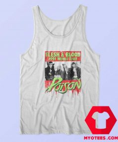 Poison Flesh Blood World Tour 1991 Tank Top
