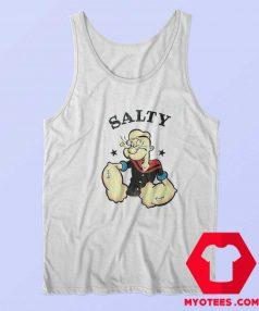 Popeye The Sailor Man Salty Vintage Tank Top