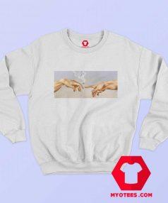 Sistine Chapel Smoking Vintage Unisex Sweatshirt