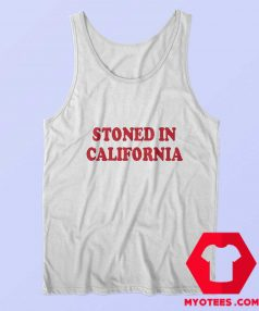 Stoned In California Graphic Custom Tank Top