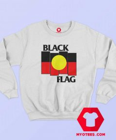 Vintage Black Flag Aboriginal X Flag Sweatshirt