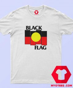 Vintage Black Flag Aboriginal X Flag T Shirt