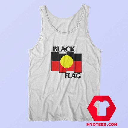 Vintage Black Flag Aboriginal X Flag Tank Top