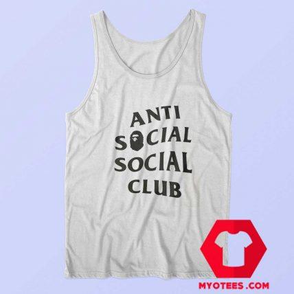 Anti Social Social Club X Bape Collab Graphic Tank Top