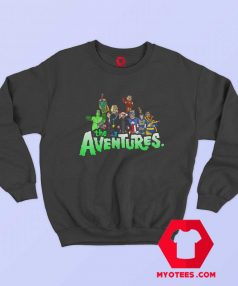 Aventures Superhero Bros Cartoon Parody Sweatshirt