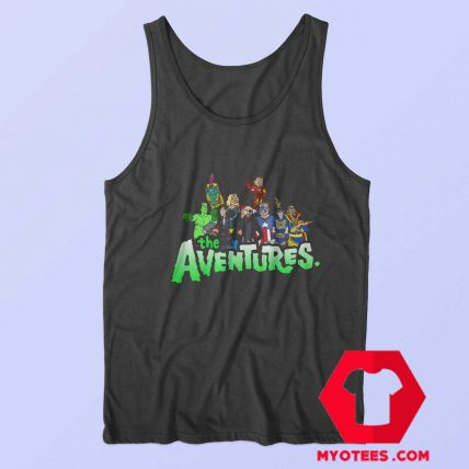 Aventures Superhero Bros Cartoon Parody Tank Top