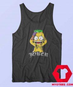 Bart Simpson Joker Batman Parody Tank Top