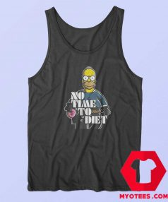 Bart Simpson No Time To Diet Parody Tank Top