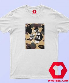 Bathing Ape x Anti Social Club Box Camo T Shirt